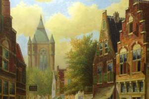 Stadsgezicht Nederland (40 x 50 cm)
